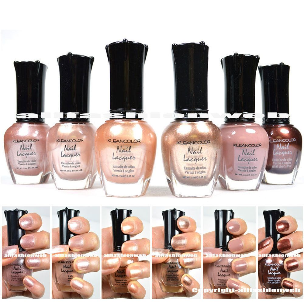 Kleancolor Nail Polish Natural Nude Beige Colors Lot of 6! Lacquer ...