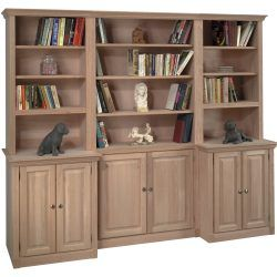 Finished And Unfinished Bookcases With Images Wood Shelving