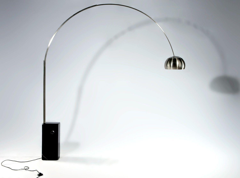 Arco Lamp By Achille Castiglioni Platinum Replica Floor Nel 2020