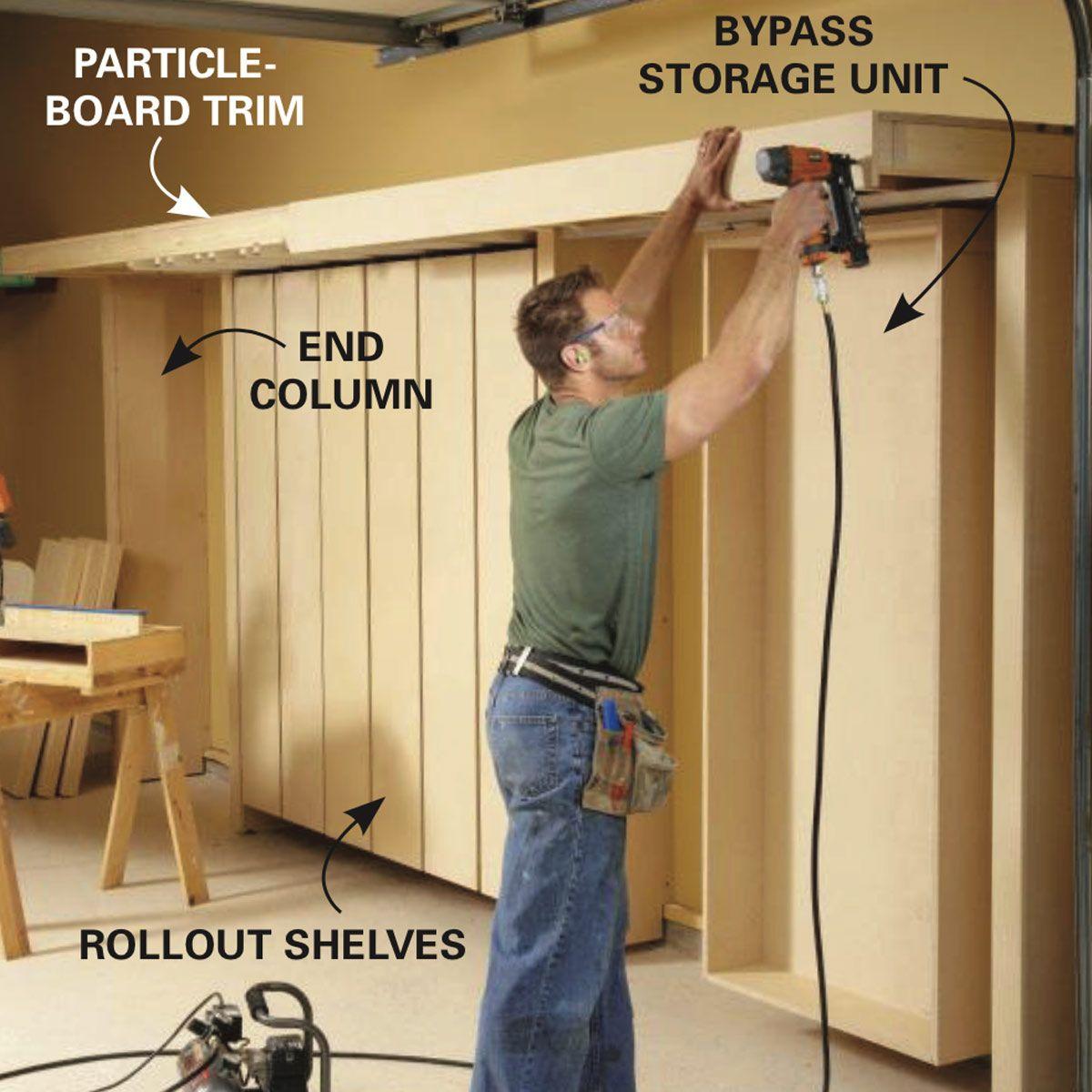 Garage Storage Space Saving Sliding Shelves Sliding Shelves Garage Storage Storage