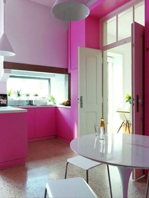 40 cute feminine kitchen design ideas hot pink kitchen pink kitchen pink decor on kitchen decor pink id=66755