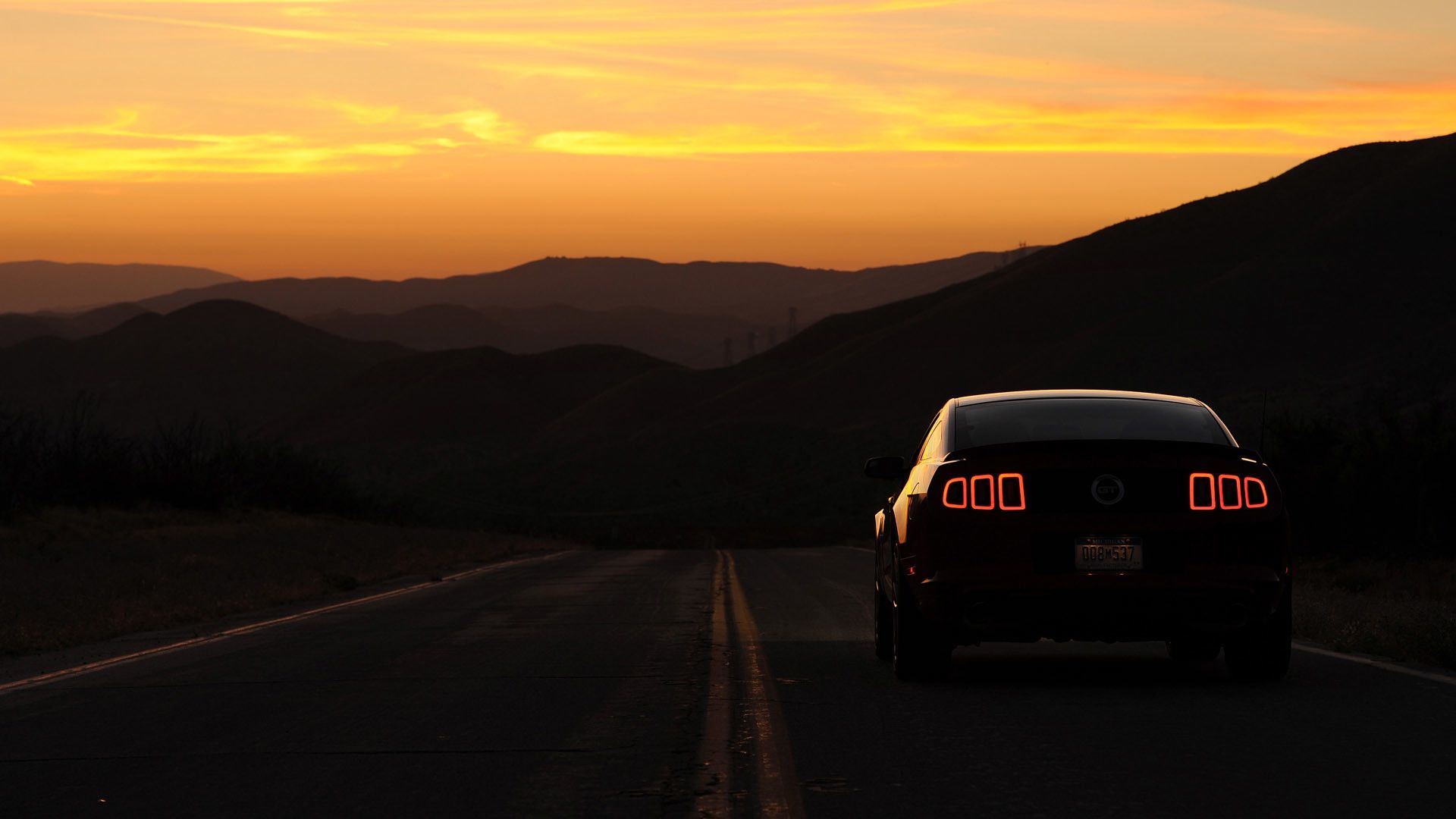 Res 1920x1080 Evening Drive Ford Mustang Wallpaper Met