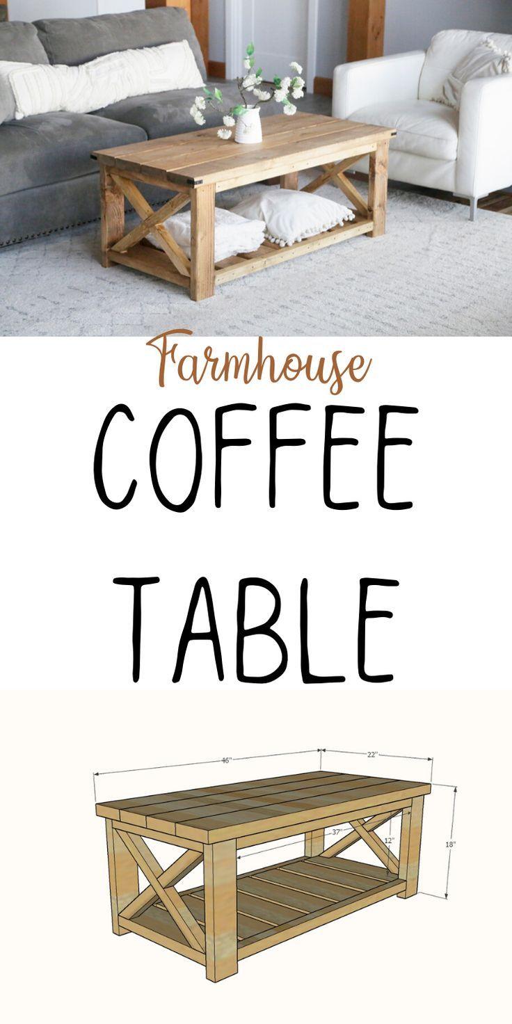 Photo of Farmhouse Coffee Table [Beginner/Under $40]   Ana White