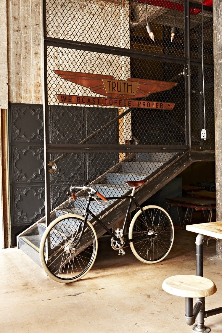 Perforated metal and tin tiling: Welcome to Truth Coffee Roasters