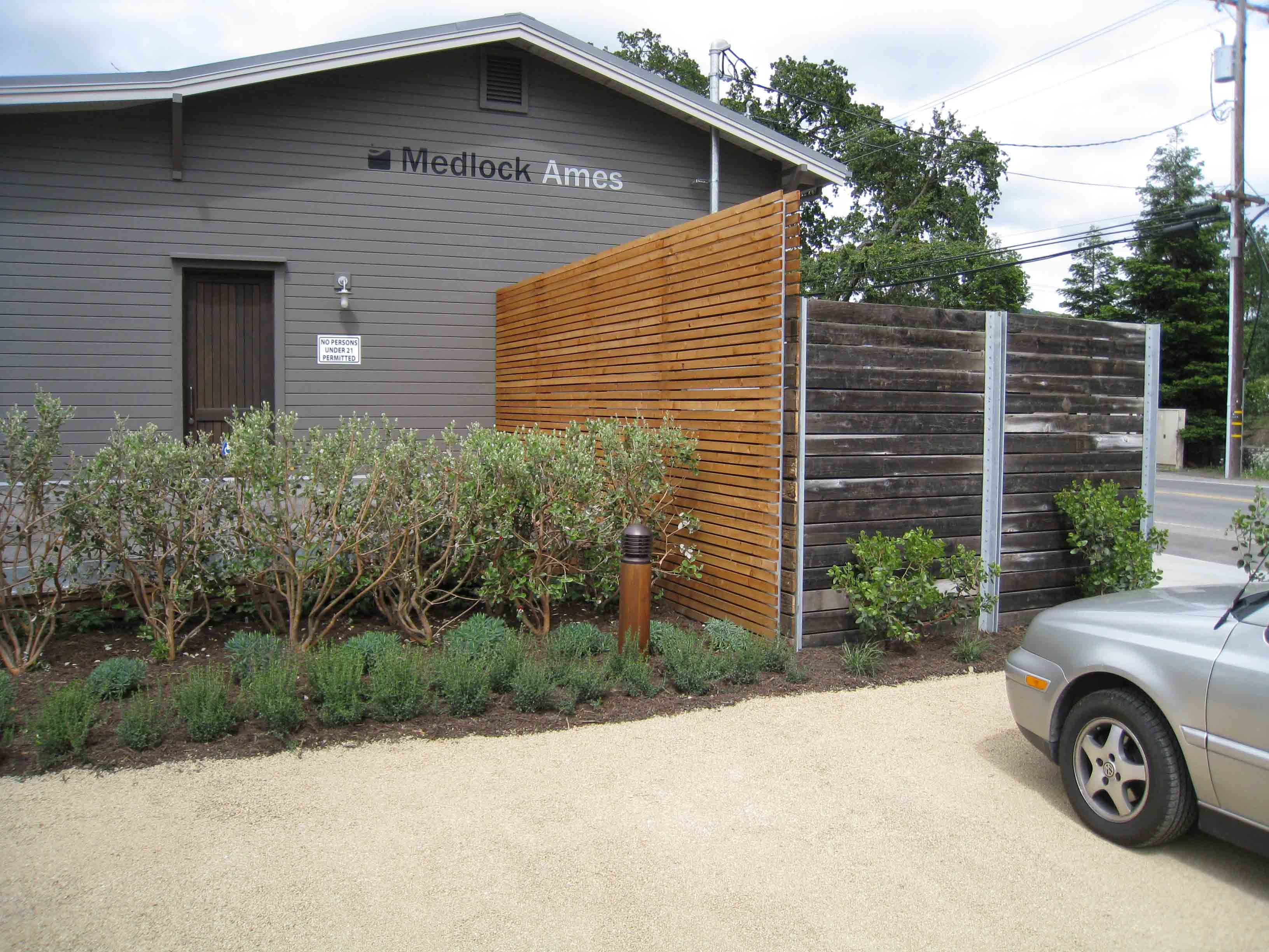 Fence And Screen I Designed At Medlock Ames Tasting Room Outdoor
