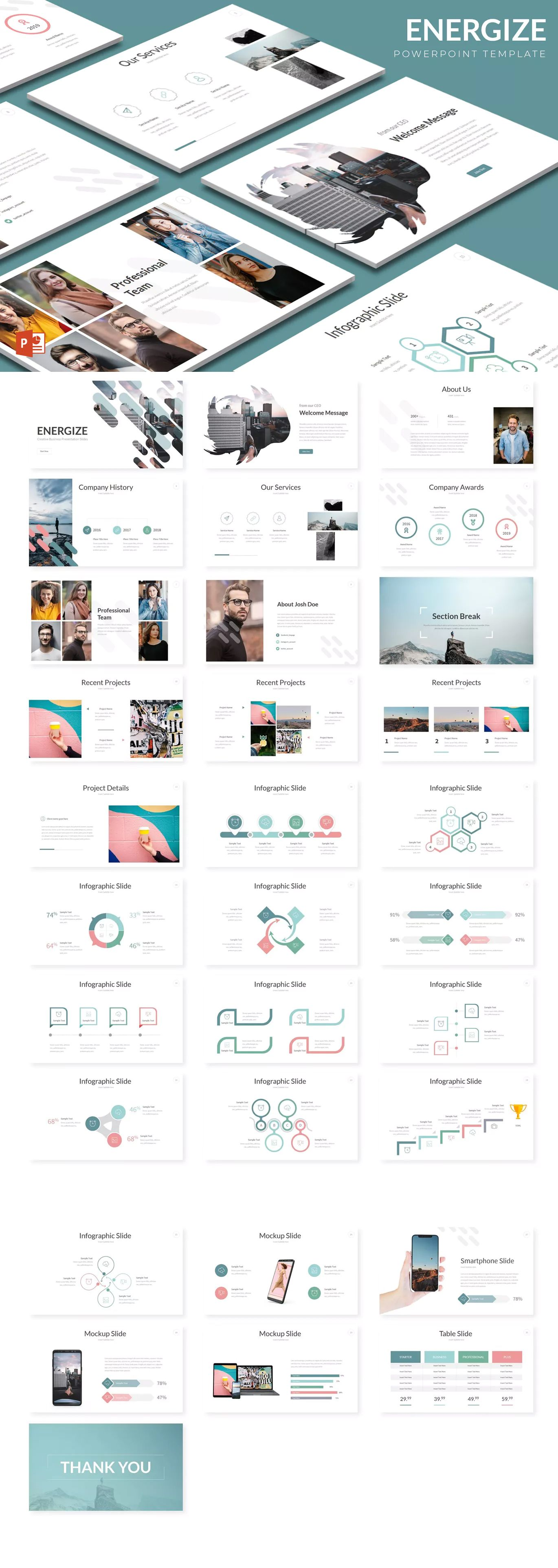 energize powerpoint presentation templates 150 total slides on