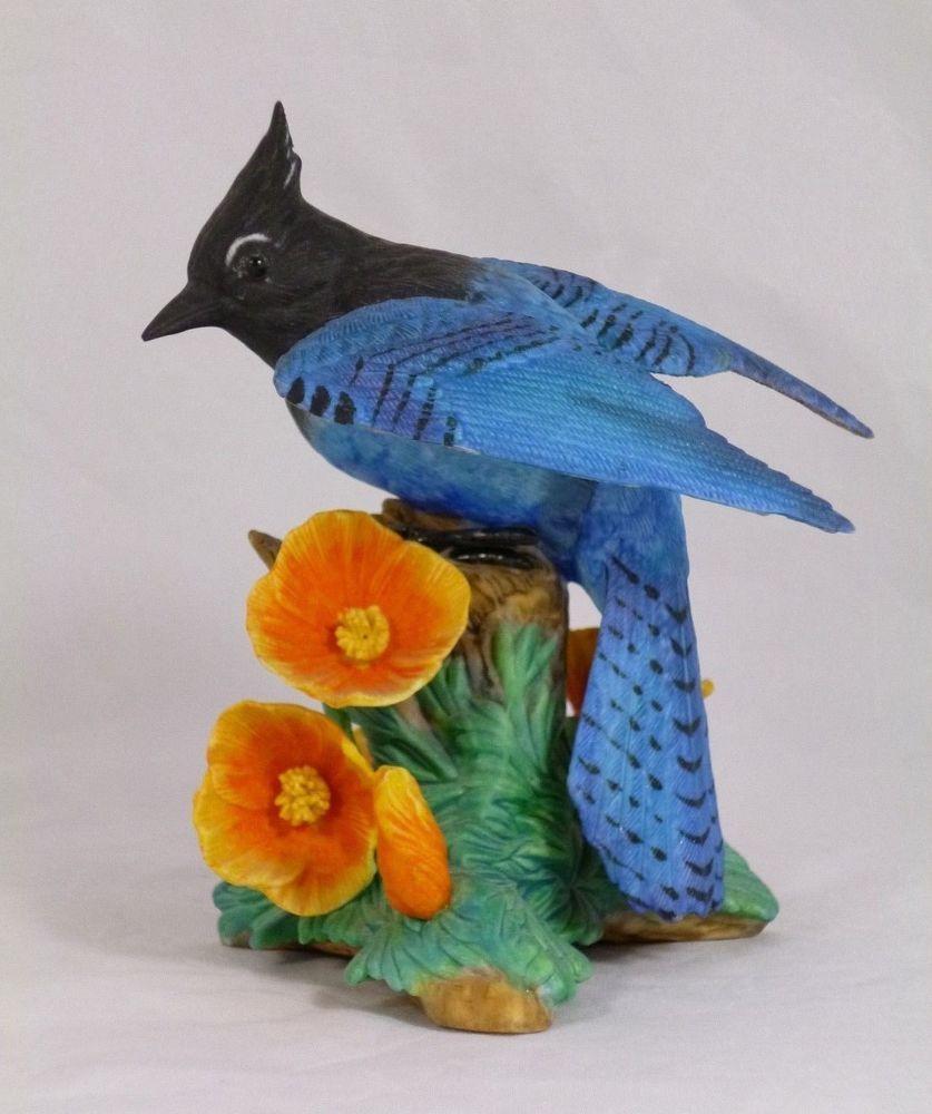 lenox fine porcelain bird figurine 1996 steller u0027s jay bird fine