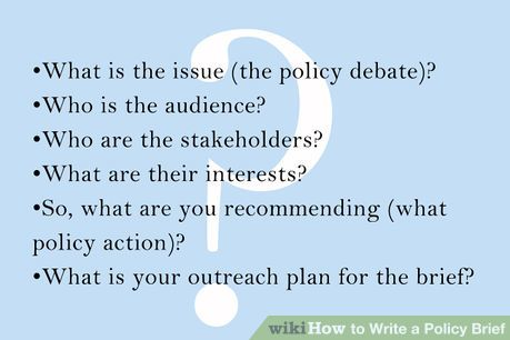 Image Titled Write A Policy Brief Step 1