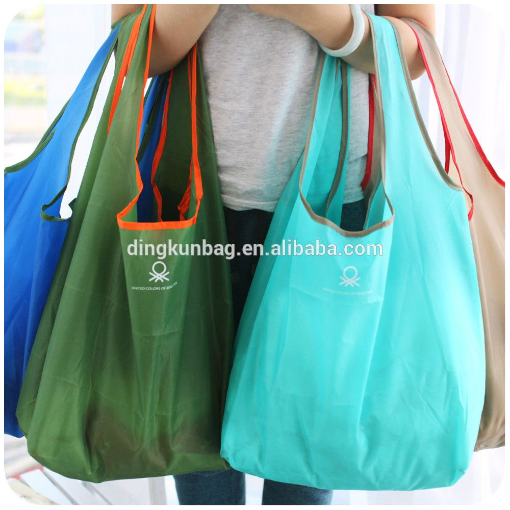 2016 wholesale polyester tote bag, folding bag used for shopping