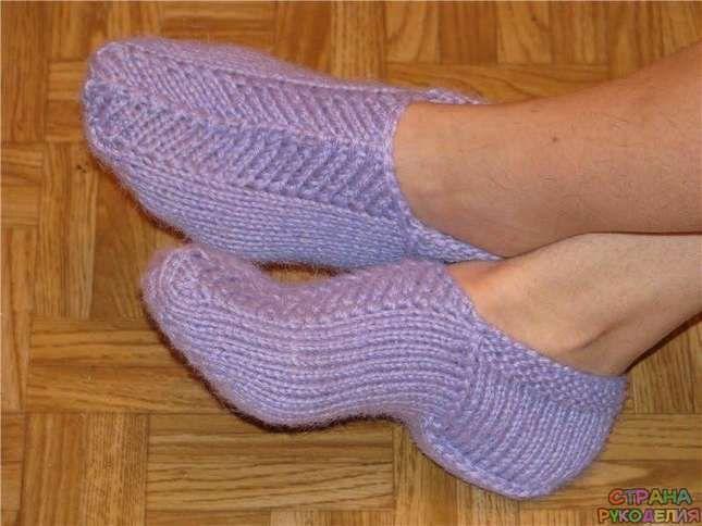 следки на двух спицах носкитапочки вязание спицами рукоделие