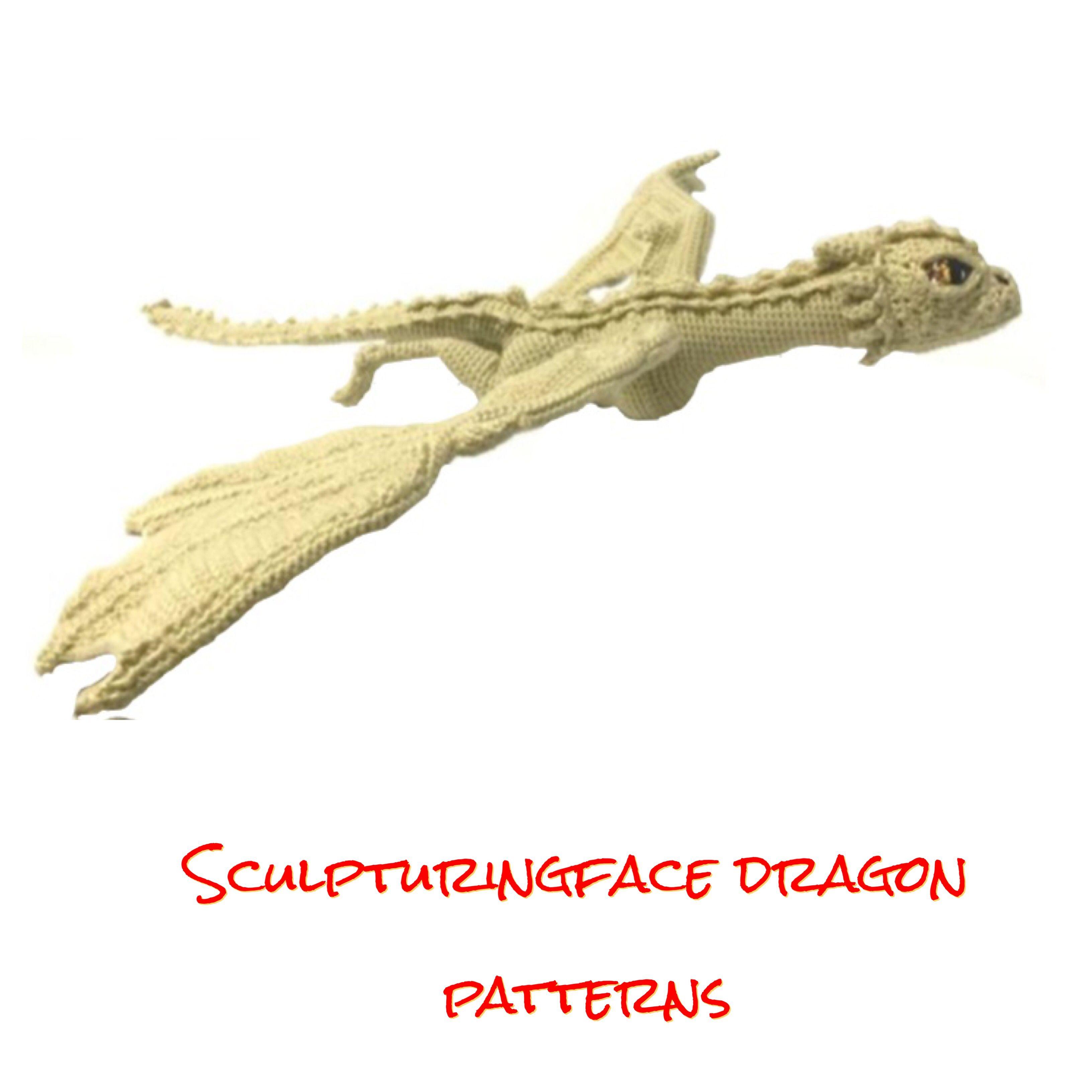 Dragon amigurumi crochet patterns by Sculpturingface | Amigurumi or ...