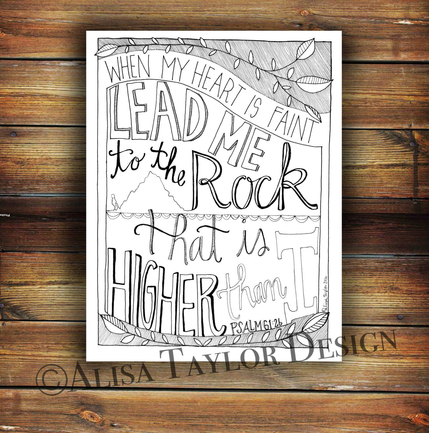 printable coloring page of psalm 61 2 christian coloring page