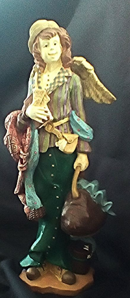 Vagabond Angel Resin Impish Dressed Boho Getup Collectible
