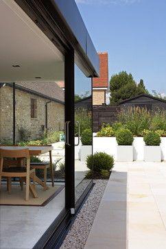 Bifold Doors With Drainage Concrete Patio Designs