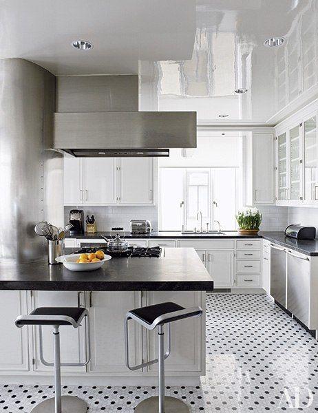 Black and White Floors That Make A Statement | Cocinas y Decoración