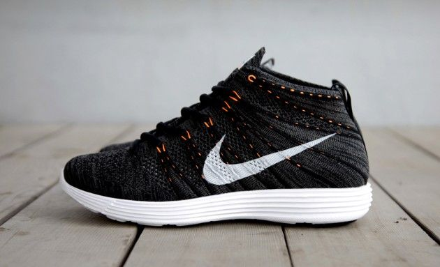Nike Lunar Flyknit Chukka Black/Total Orange | Highsnobiety