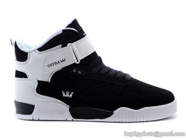 6ba936c103cefc Mens Supra Bleeker High Skateboard Shoes White Black