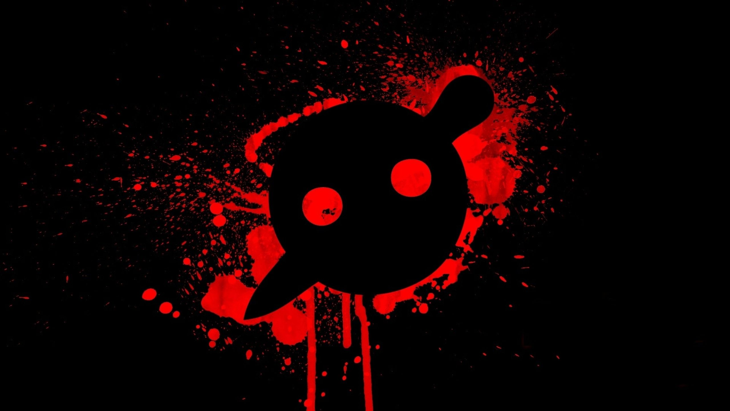 Download Wallpapers Download 2560x1440 Black Music Red Simple Animal Wallpaper Red Wallpaper Knife Party