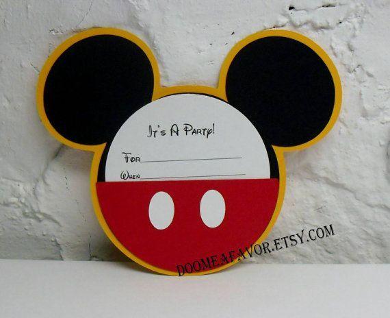 Diy Mickey Mouse Party Invitations Pin By Stephanie Jimenez On Birthday