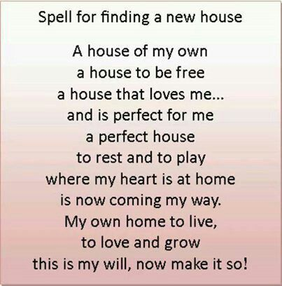 Spell To Get A House Spelling Magick Spell Book