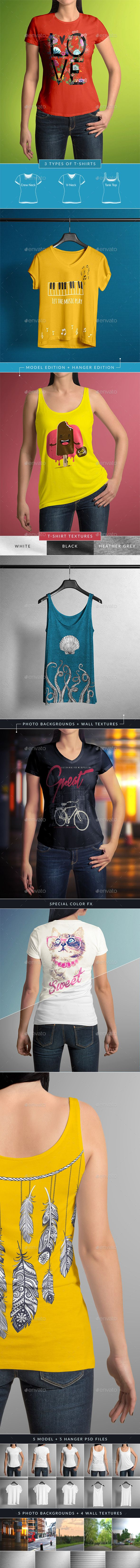 Download T Shirt Mock Up Female Model Classic Edition Clothing Mockup Shirt Mockup Mockup Template Free