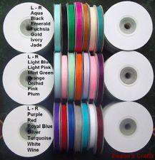 42 ORGANZA RIBBON SPOOL BULK LOT SHEER EDGED 1/4 X 25 YDS MIX OR MATCH COLORS - Ebay.com