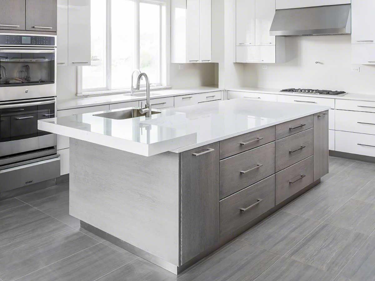 Best Cashmere Carrara™ Quartz Countertop Inspiration Countertops 400 x 300