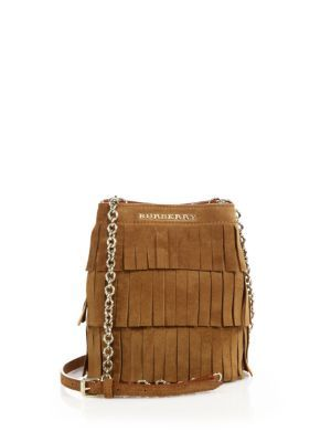 907002d11a8 BURBERRY Mini Fringed Suede Bucket Bag. #burberry #bags #shoulder bags  #lining #bucket #suede #