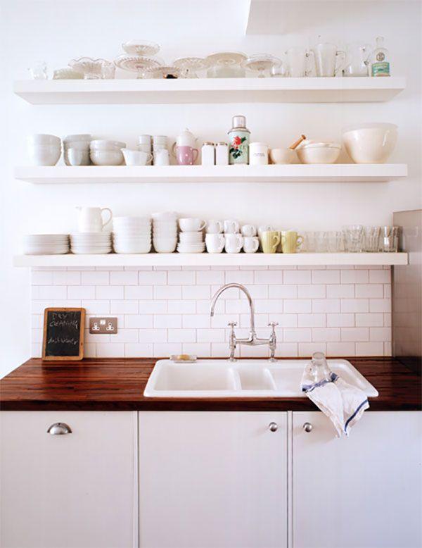 Trend Floating Shelves In The Kitchen La La Lovely Open Kitchen Shelves Kitchen Open Shelf Kitchen Remodel