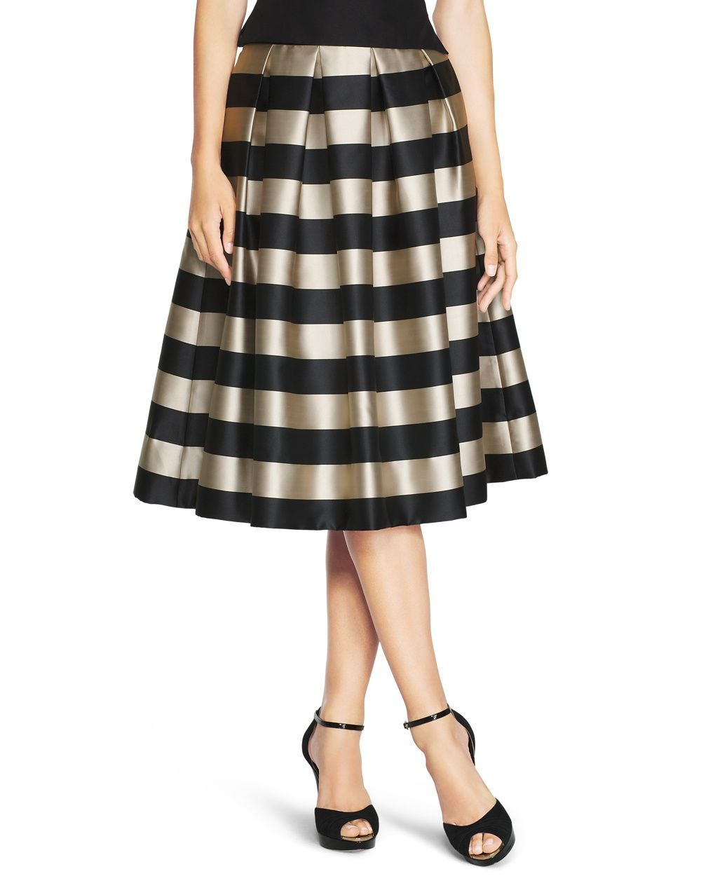 Striped Taffeta Midi Skirt | Dress skirt, Shops and Stripes
