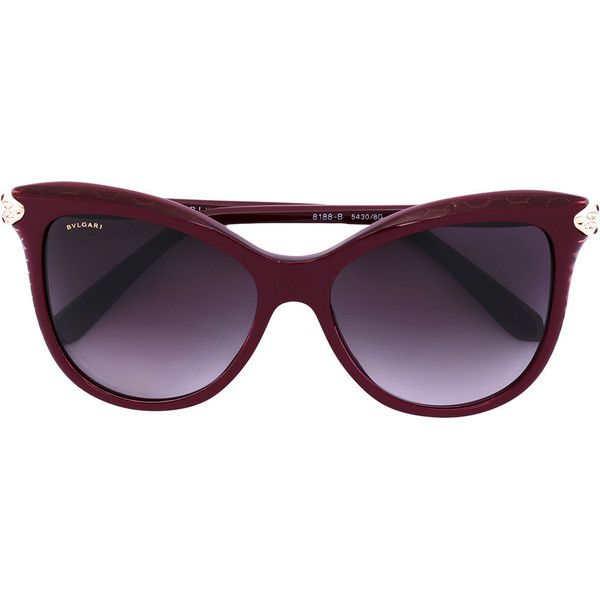 Bulgari cat eye sunglasses (£305) ❤ liked on Polyvore featuring accessories, eyewear, sunglasses, red, red sunglasses, red glasses, acetate glasses, bulgari sunglasses and bulgari glasses