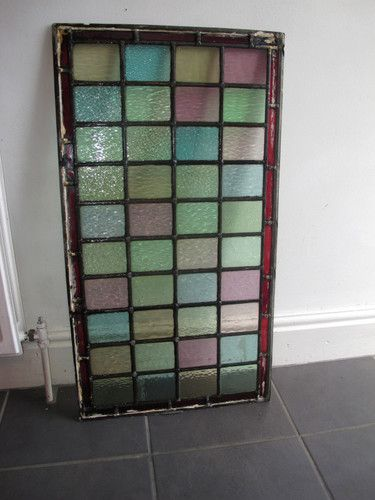 STAINED GLASS WINDOW PANEL - ABOVE DOOR RECLAIMED VICTORIAN LEADED LIGHT 84x46 | eBay & STAINED GLASS WINDOW PANEL - ABOVE DOOR RECLAIMED VICTORIAN LEADED ...