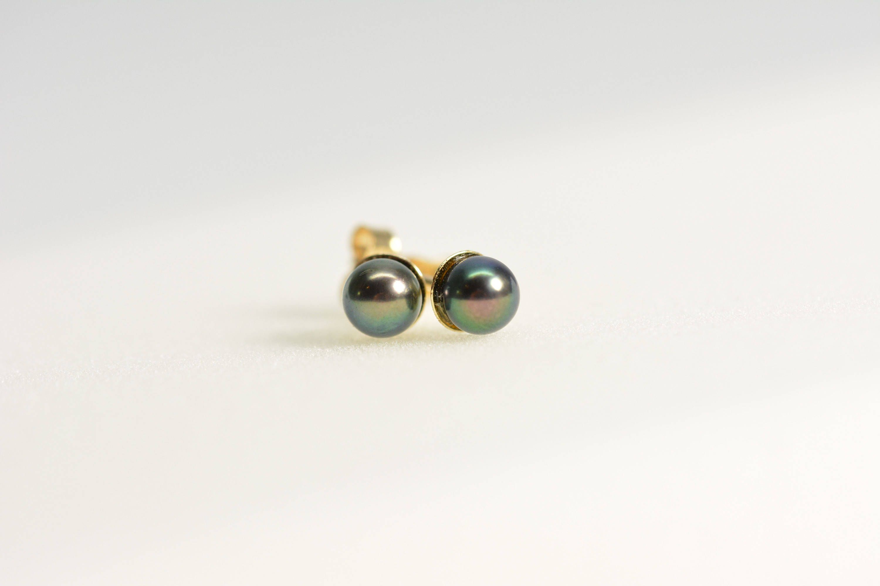 pearls itm earrings studs sided stud gold pearl freshwater double amj