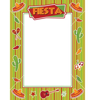 Fiesta Frame Vector Image On Clip Art Borders Downloadable Art