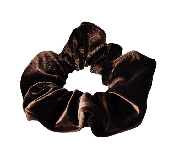 Brown Velvet Scrunchies Ponytail Holder Free by ScrunchieKing
