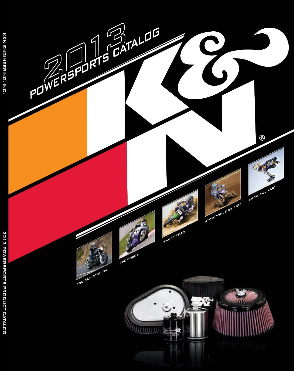 K&N Air Filters Catalogo 2013 Atv, Motorcycle, Catalog
