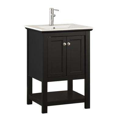 Bradford 24 In W Traditional Bathroom Vanity In Black With