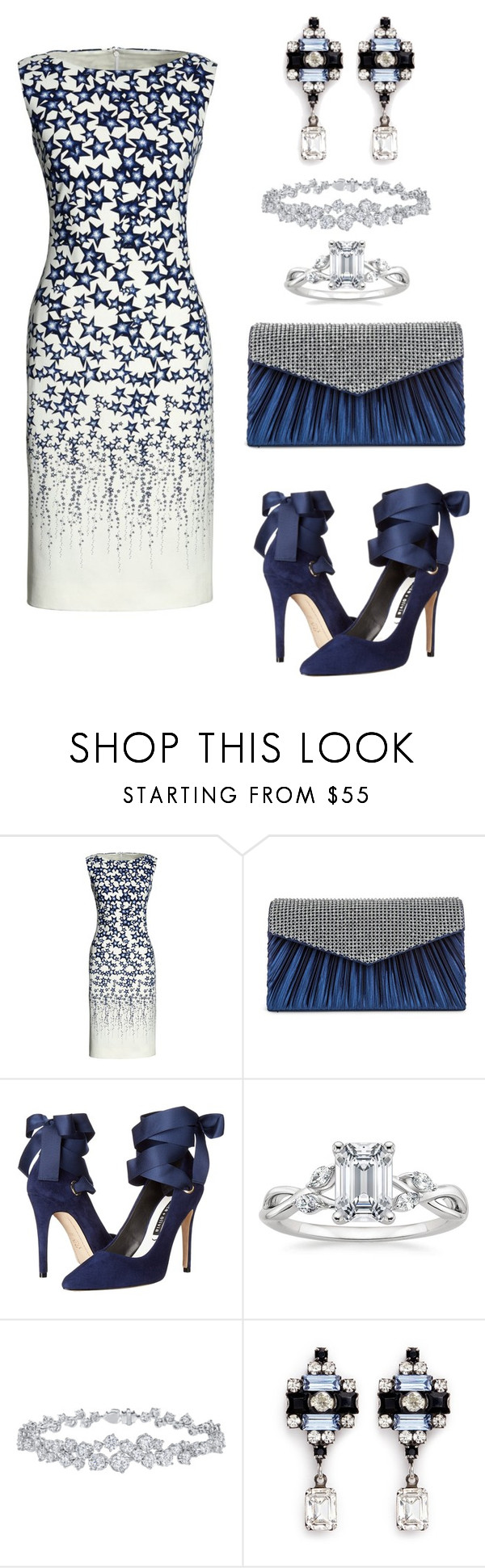 """""""Stars In Her Eyes"""" by naviaux ❤ liked on Polyvore featuring Canvas by Lands' End, Jessica McClintock, Alice + Olivia, Harry Winston and DANNIJO"""
