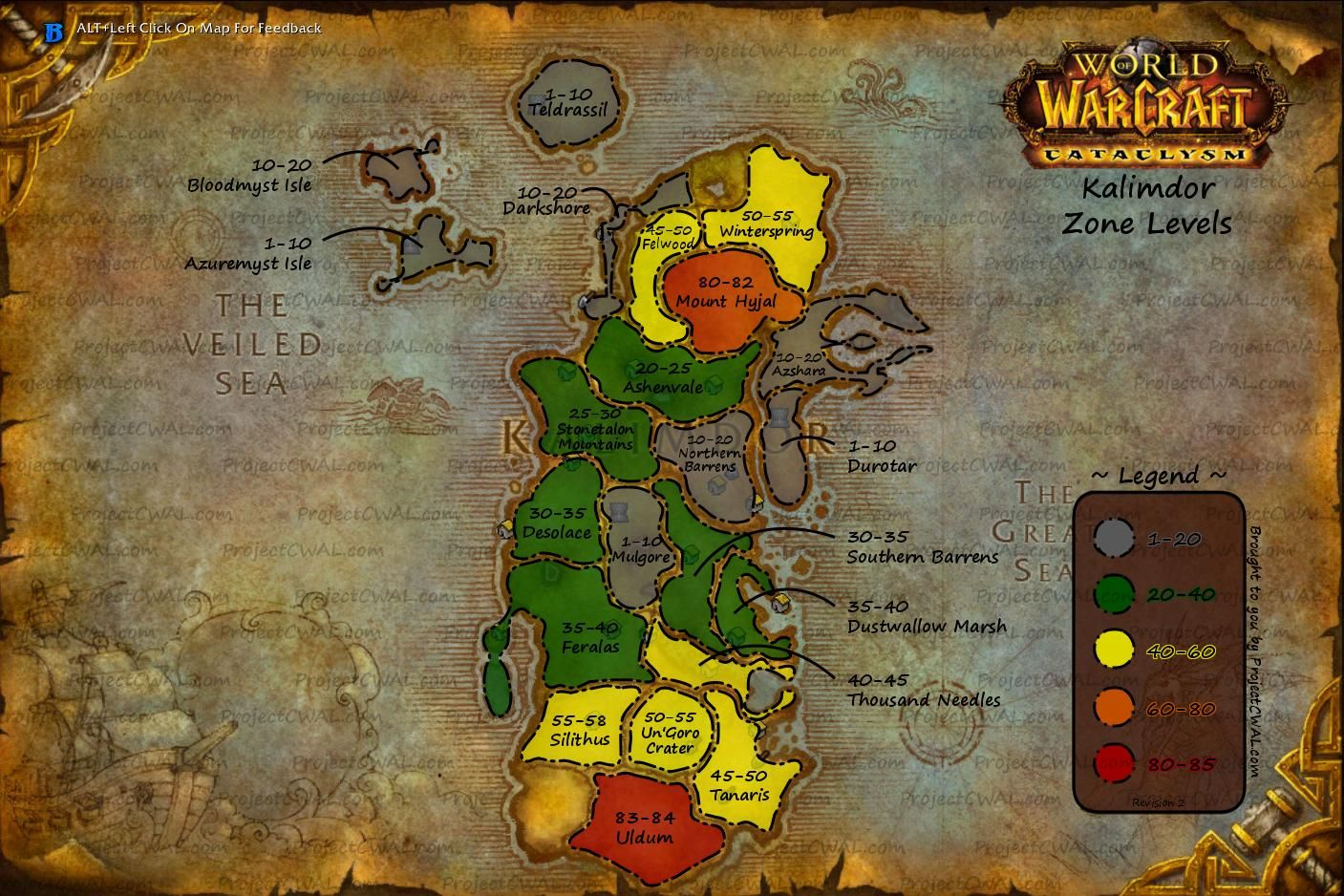 Wow Level Zone Map Awesome World Of Warcraft Horde Images Online