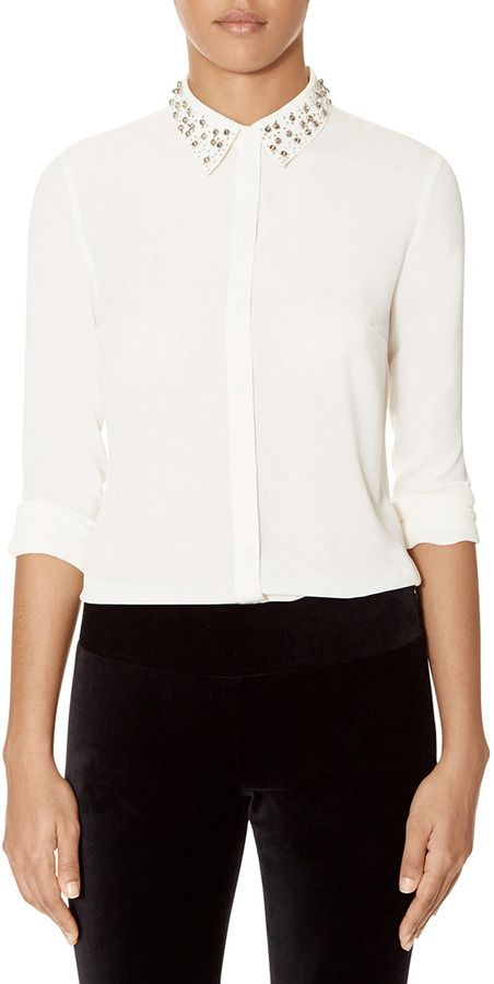 The Limited Jeweled Collar Blouse On Shopstyle Com Sweaters