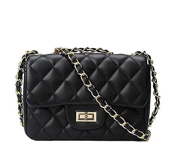Damen Luxus Abendtasche Clutch Tasche Gesteppt Design Handtasche Umhängetasche
