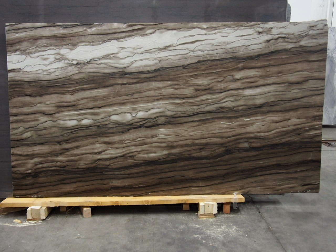 Sequoia Brown Leather Quartzite Slab Sold By Milestone Marble Size 62 X 112 X 3 4 Inches Stone Slab Geometric Tiles Slate Stone