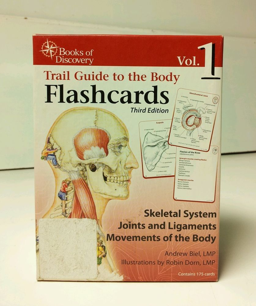 Trail Guide to the Body Flashcards Vol 1 3rd Ed. Skeletal System by ...