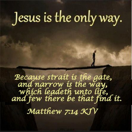 The narrow path is not for narrow minded people
