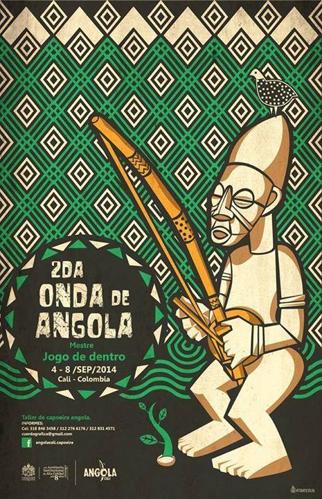 Cool event poster for Onda De Angola in September (Mestre Jogo de