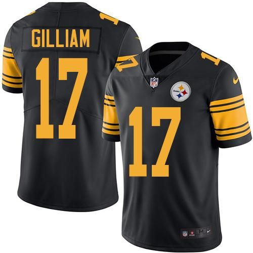 nike steelers 17 joe gilliam black mens stitched nfl limited rush jersey