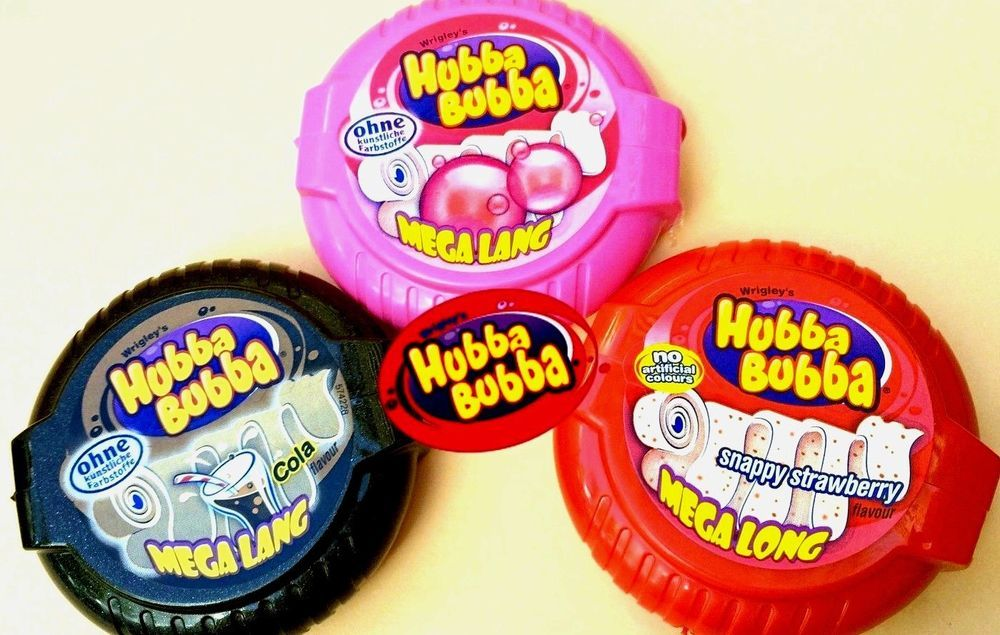Details about Hubba Bubba Mega Long Bubble Chewing Gum Tape 3