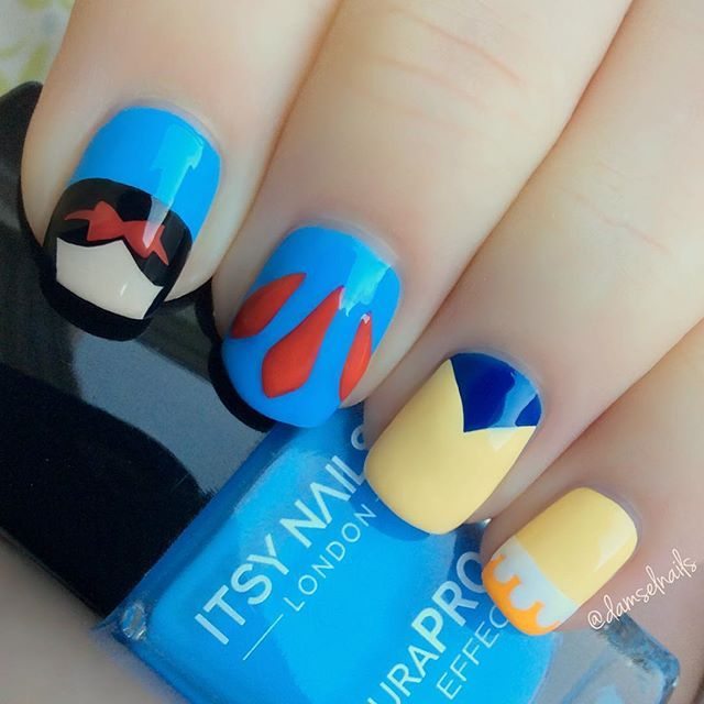 Snow White Nails: Disney Nails, Nails, Nail Art