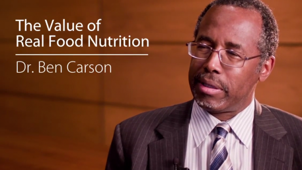 Dr. Ben Carson On The Value of Real Food Nutrition Ben