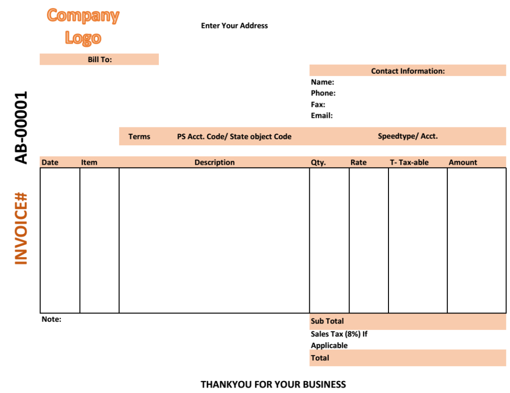 Medical Shop Bill Invoice Template  Bill Invoice